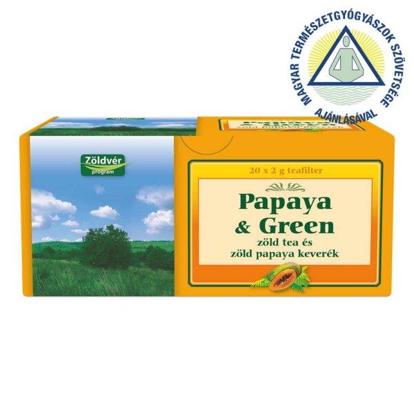 Papaya & Green filteres tea (40 g)