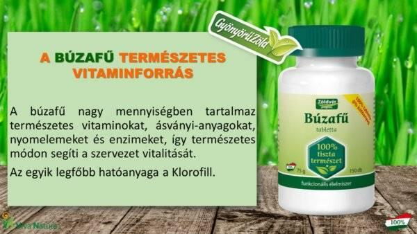 Búzafű tabletta (150 db) 100%
