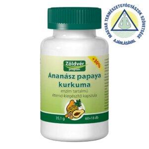 Ananász papaya kurkuma kapszula (78 db)