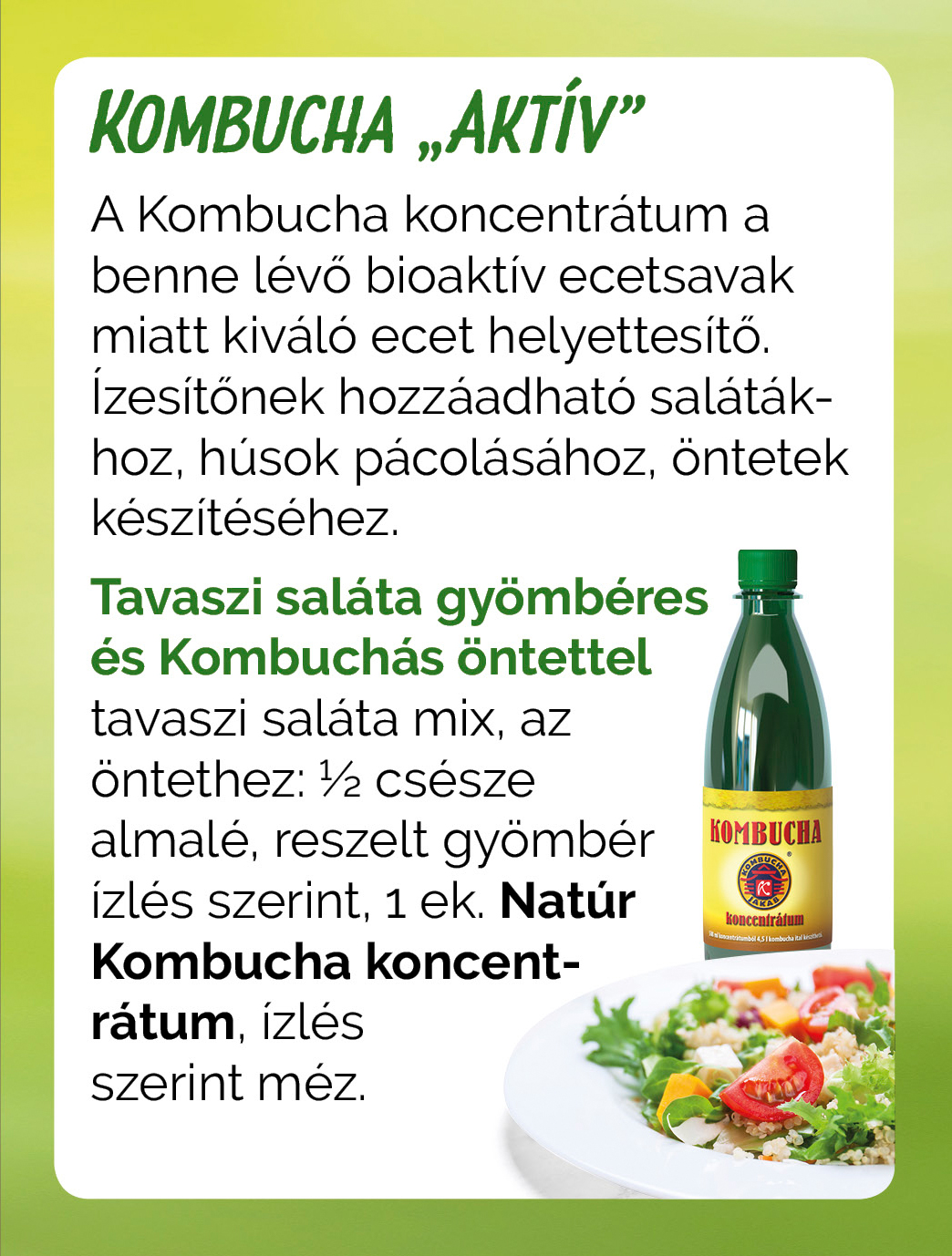 Kombucha aktiv salatale recept