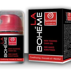 A La Boheme dinamikus, férfias illatú nem habzó borotva gél kényelmes, pontos borotválkozást biztosít.