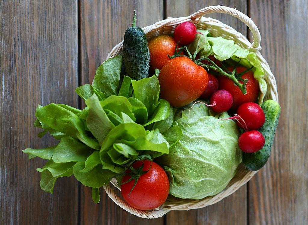 egészséges friss zöldség