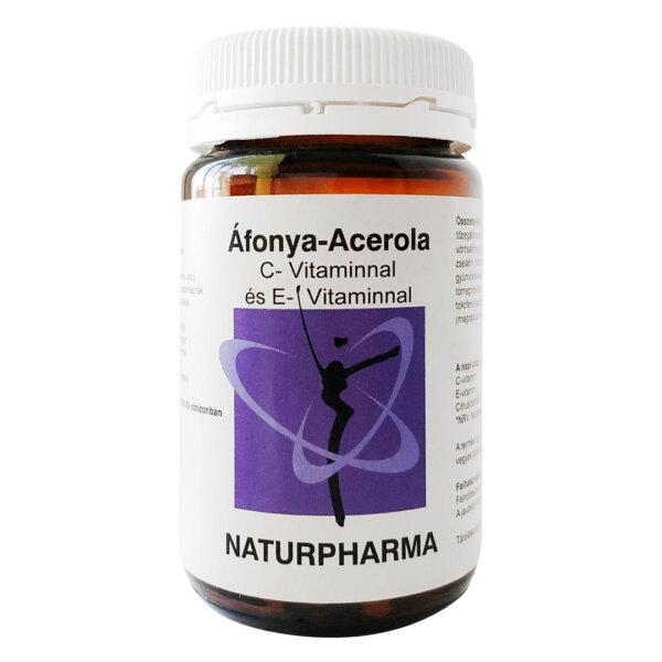 Naturpharma Áfonya-Acerola C-Vitaminnal és E-Vitaminnal (60db)