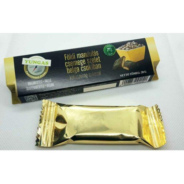 Földi mandulás csemege szelet belga csokiban