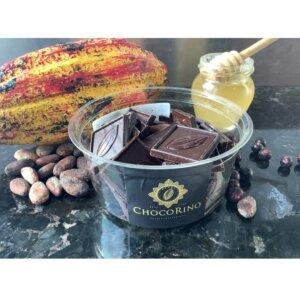 ChocoRino Mézes Csoki Gyógynövényekkel 75% poharas (150 g)